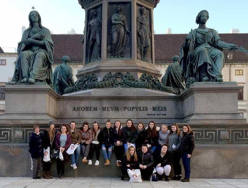 Hartpury students in Vienna