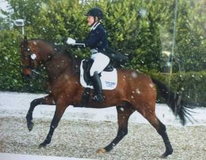 Francesca Bradley riding Baldovino