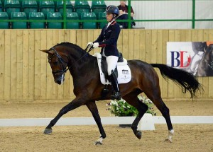 Charlotte Dujardin wins the Shearwater 6yr old class on  Mount St John Freestyle